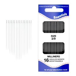Milliners 3/9 Hand Sewing Needles