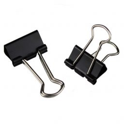 Metal Black Foldback Clips - 19mm