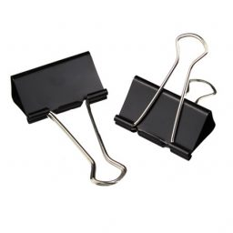 Metal Black Foldback Clips - 32mm