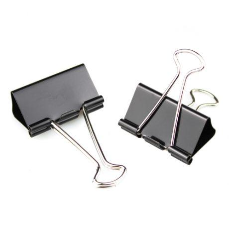 Metal Black Foldback Clips - 50mm