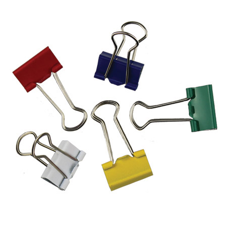 Metal Assorted Foldback Clips - 32mm
