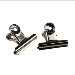 Metal Silver Spring Clips - 32mm