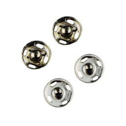 2 Piece/Brass Nickel Light Duty Press Studs - 1 - 8mm