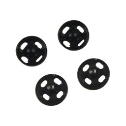 2 Piece/Brass Black Light Duty Press Studs - 000 - 5mm