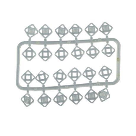 2 Piece/Plastic Light Duty Press Studs - 15mm