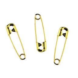 Goldilocks Brass Midgets Yellow Safety Pins - 27mm - 1