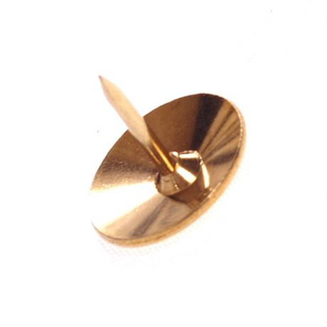 Brassed Solid Head Brass Drawing Pins - 9.5mm