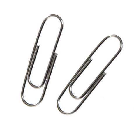 Jumbo Plain Silver Paperclips - 73mm