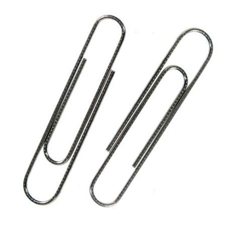 Giant Serrated Silver Paperclips - 73mm