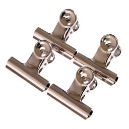 Metal Silver Spring Clips - 70mm