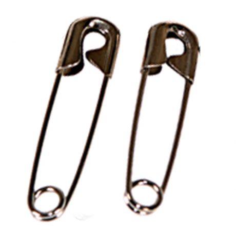 Coronet Heavyweight Brass Nickel Safety Pins - 50mm - 4
