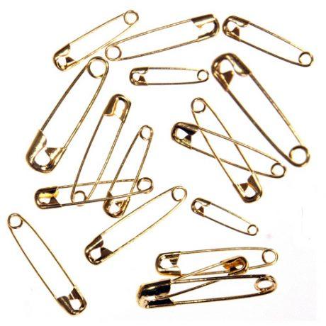 Brass Safety Pins - Assorted
