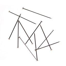 Stainless Steel Nickel Straight Pins - 26mm x 0.59mm