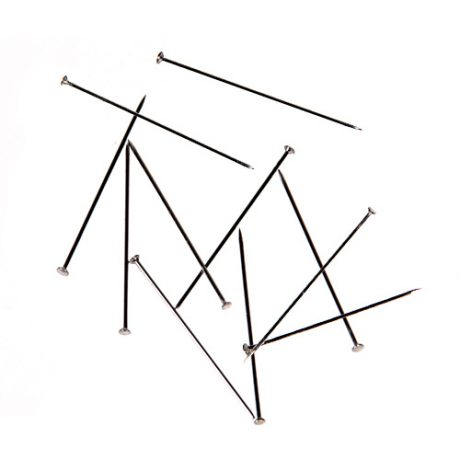 Stainless Steel Nickel Straight Pins - 26mm x 0.59mm