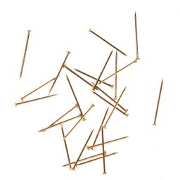 Brass Nickel Straight Pins - 50mm x 1.20mm
