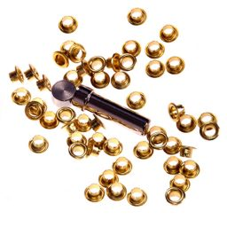Yellow Brass Eyelets & Tools - 3mm