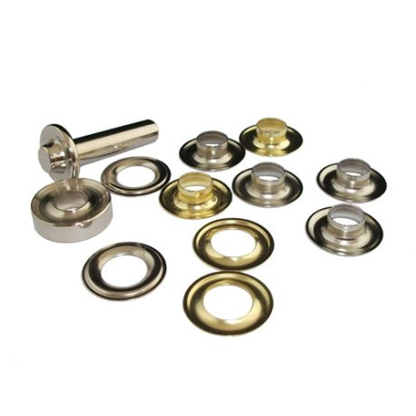Yellow Brass Eyelets & Tools - 9mm