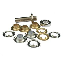 Yellow Brass Eyelets & Tools - 11mm