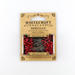 Pearlised Red Straight Pins - 40 x 0.58mm