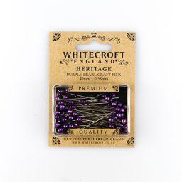 Pearlised Purple Straight Pins - 40 x 0.58mm