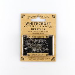 Craft Black Straight Pins - 38 x 0.66mm