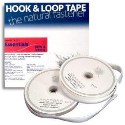 10m Stick & Sew White Hook & Loop