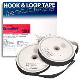 10m Stick & Sew Black Hook & Loop