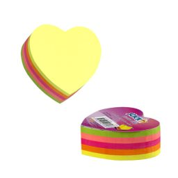 Neon Heart Cube 250 Sheets - 18 Per Pack