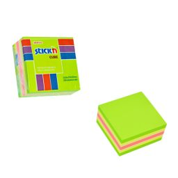 Green Neon Mini Cube - 48 Per Pack