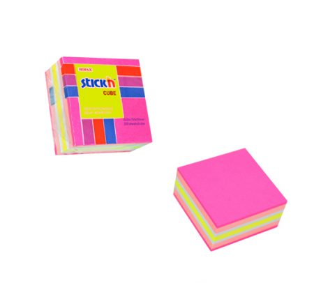 76 X 76 Neon Pastel Pink Cube - 12 Pads Per Pack