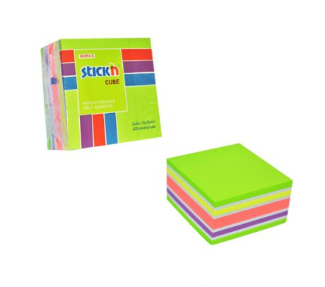 76 X 76 Neon Pastel Green  Cube -  12 Pads Per Pack