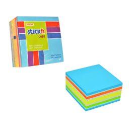 76 X 76 Neon Pastel Blue  Cube -  12 Pads Per Pack