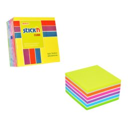 76 X 76 Neon Pastel Mixed Cube -  12 Pads Per Pack