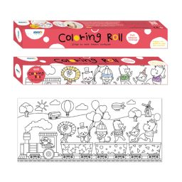 Party Train Colouring Roll