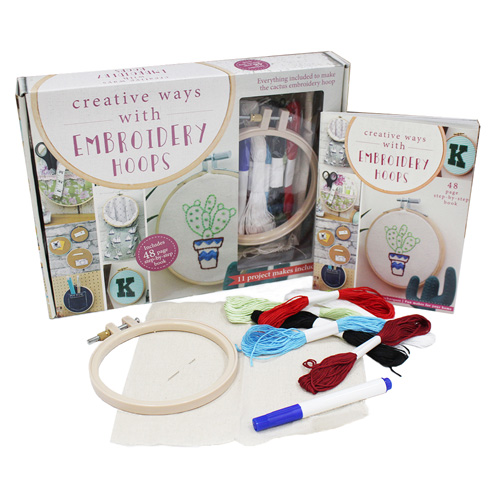 Embroidery Hoops Makes Book Kit