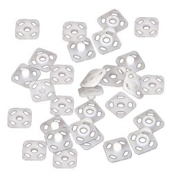 Acetal White Snap Fasteners - 9mm