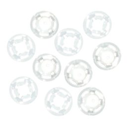 Plastic White Snaps